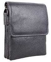 Хорошая мужская кожаная сумка DL008-2 черная
