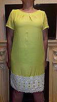 Женское льняное платье с кружевом, фото 1