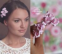 """Шпильки для волос """"Розовые фрезии"""", фото 1"""