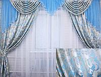 """Ламбрекен и шторы из плотной шторной ткани """"Полина"""" . Код 063лш058"""