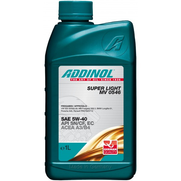 Моторное масло ADDINOL 5W40 SUPER LIGHT 1l