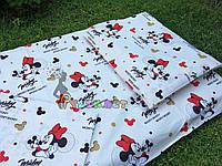 Постельный набор в детскую кроватку (3 предмета) Микки маус
