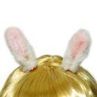 Карнавальные ушки зайчика маленькие на заколках
