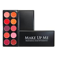 Профессиональная палитра помад для губ 10 цветов Make Up Me L10-2 - L10-2