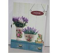 Ключница Душистые цветы,шкаф для ключей