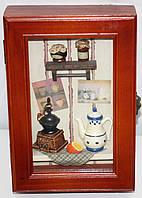 Ключница деревянная настенная, маленькая, Кухонька, фото 1
