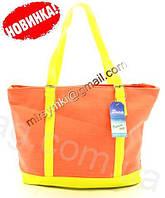 Сумка женская летняя linen bag orange