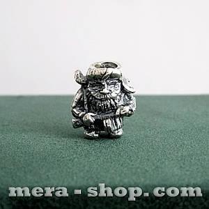 Серебряная бусина Партизан подвеска из серебра 925 пробы