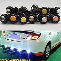 LED линза 23мм 9W (дневные ходовые огни светодиодные, ДХО, DRL, орлиный глаз)