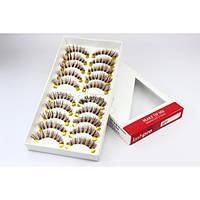 Профессиональный набор коричневых ресниц 10 пар - Make Up Me LashPro ML263 - ML263
