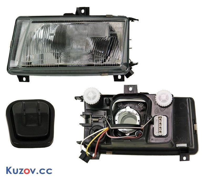 Фара VW Caddy 95-04 левая (Depo) механич./электрич. 441-1127L-LD-E