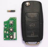 Ключ выкидной Volkswagen 3 кнопки 1K0959753G 433MHz ID48, фото 1