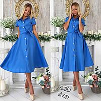 Женское стильное платье миди на пуговицах (2 цвета), фото 1