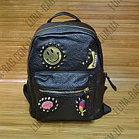 Стильный рюкзак Эко - кожа 3 Цвета Черный, фото 1
