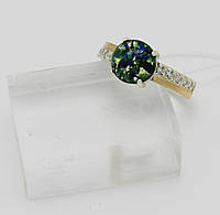 Кольцо опал с камнями серебро 925*