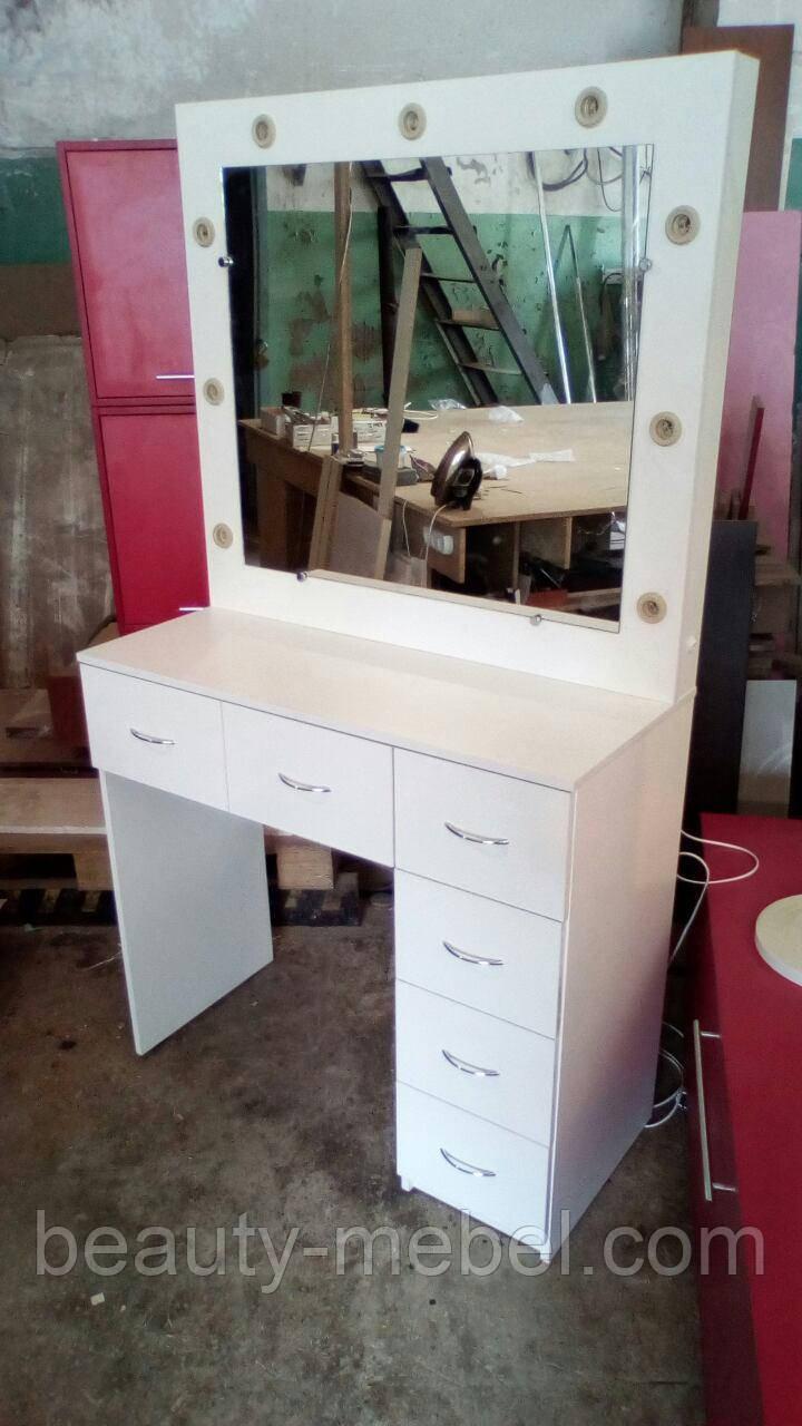 Стол для визажиста с большим количеством ящиков