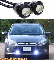 Орлиный Глаз - врезная LED лампа линза 3W 18мм ДХО DRL