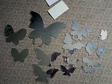 """Наклейка на стену, виниловые наклейки, украшения стены наклейки """"Большие бабочки зеркальные 14шт набор"""", фото 3"""
