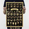 """Постер рецепты кофе """"COFFEE"""" 42х30 см"""