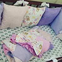 Бортики - защита в детскую кроватку + конверт - плед на выписку