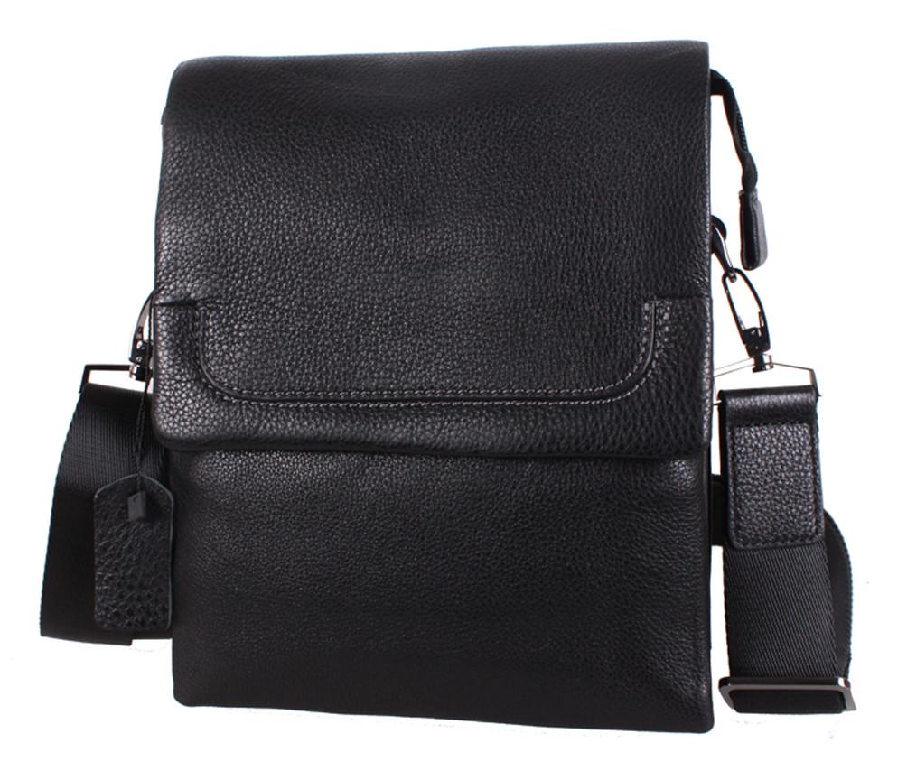 Мужская кожаная сумка DL5321-4 черная