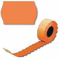 Ценник рулонный оранжевый А12(26х12),2,5м 208шт, фигурн