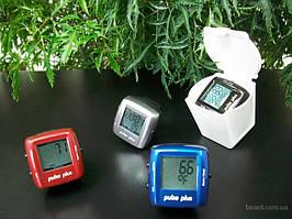 Пульсометр - кільце на палець Pulse Plus iD503 колір синій і червоний