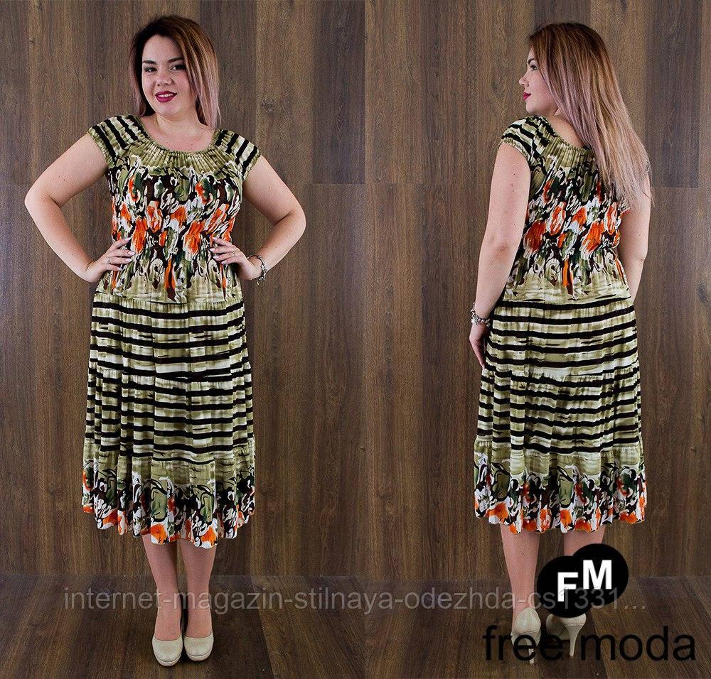 Платье женское №8887 / хаки + коралл