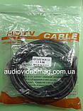 Кабель HDMI - HDMI, длина 5 метров, толщина 7 мм, цвет черный, фото 2