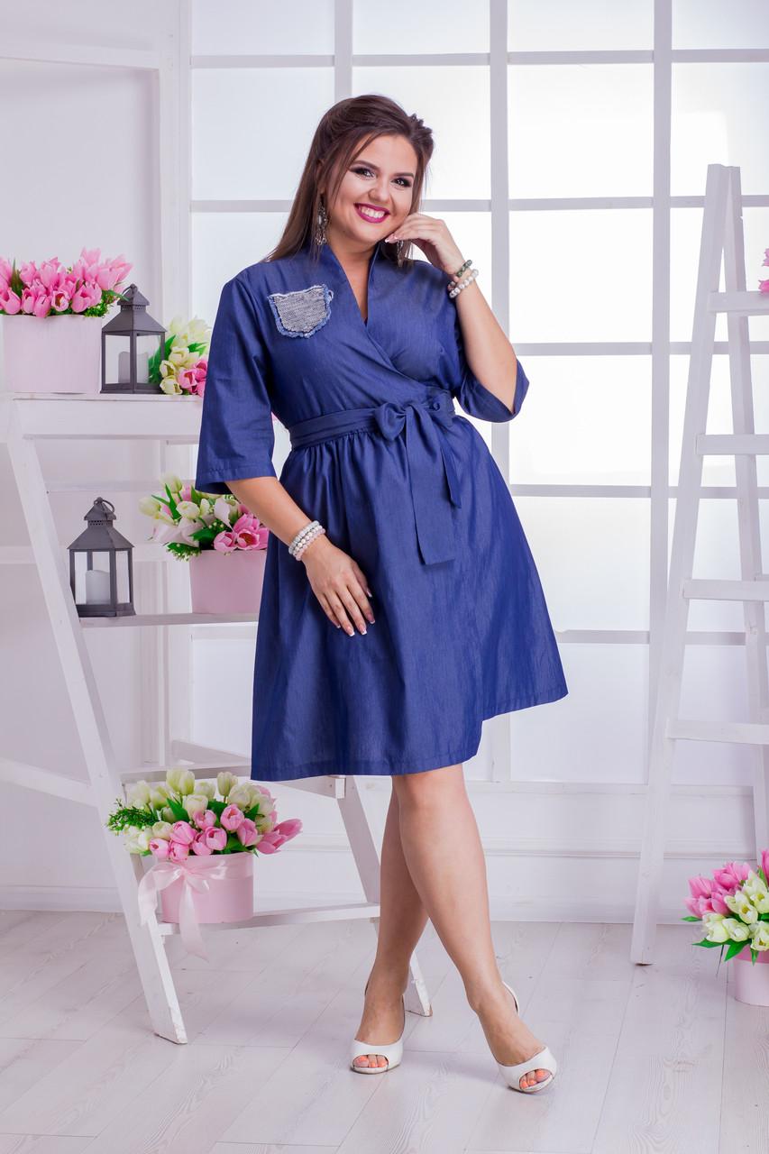 Джинсовое платье 03541