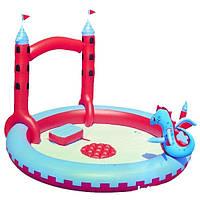 Детский надувной центр BestWay 53037 Замок Дракона 221 х 150 см , фото 1