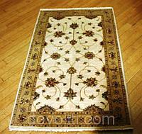 Пакистанский шерстяной ковер ручной работы(Kash),бежево-оливковый
