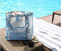 Пляжная летняя сумка в сетку фирмы Weekeight