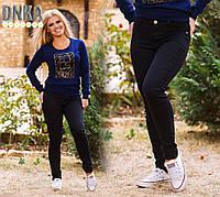 Женские джинсы черные