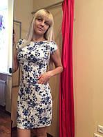 Платье-футляр летнее из стрейч-льна П180к