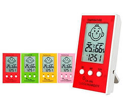 Цифровой термо-гигрометр/часы для детской комнаты CX-201