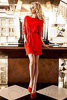 Красное платье-туника Кобби_1 Jadone Fashion 50-56 размеры