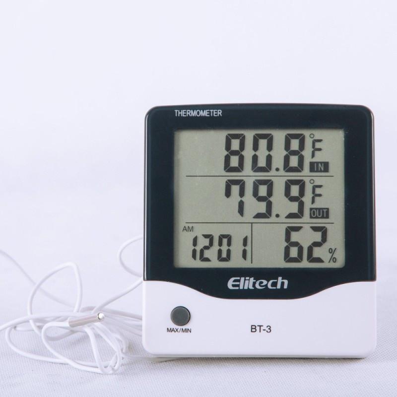 Цифровой термо-гигрометр Elitech BТ-3 (Великобритания) (0-50 С; 20%…99%) с термопарой 1.5 м (-50...+70°C)