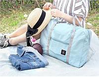 Легкая женская дорожная сумка-трансформер розовая, бордо