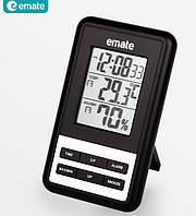 Цифровой термо-гигрометр Emate HTC-3 (термометр: -10 °C~+60 °C; гигрометр: 10%-99%), часы, будильник