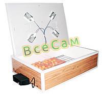 Инкубатор автоматический «Курочка Ряба» ИБ-160 вместимостью 120 яиц с двойным пластиковым корпусом