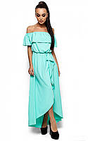 Женское длинное платье ментол, р.42-46*
