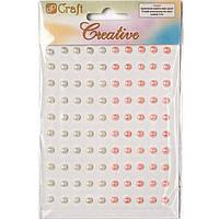 Набор Dalprint 947AP100 белый;розовый самоклеющиеся жемчужины  66шт