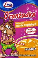 Напиток шипучий растворимый Oranzadka тропические фрукты Emix Польша 16г