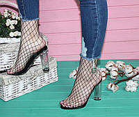 Босоножки на каблуке прозрачные, фото 1