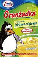 Напиток шипучий растворимый Oranzadka яблоко с мятой Emix Польша 16г