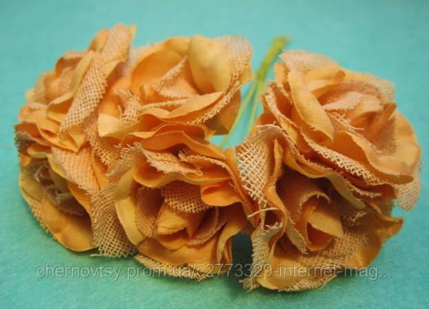 "Роза ""Двухцветная"" уп. 36 шт. Оранжевая"