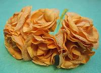 """Роза """"Двухцветная"""", упаковкой 36 шт Оранжевая"""