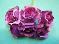 """Роза """"Двухцветная"""" уп. 36 шт. Сиреневая"""