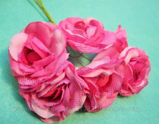"""Троянда """"Двоколірна"""" уп. 36 шт. Рожева"""